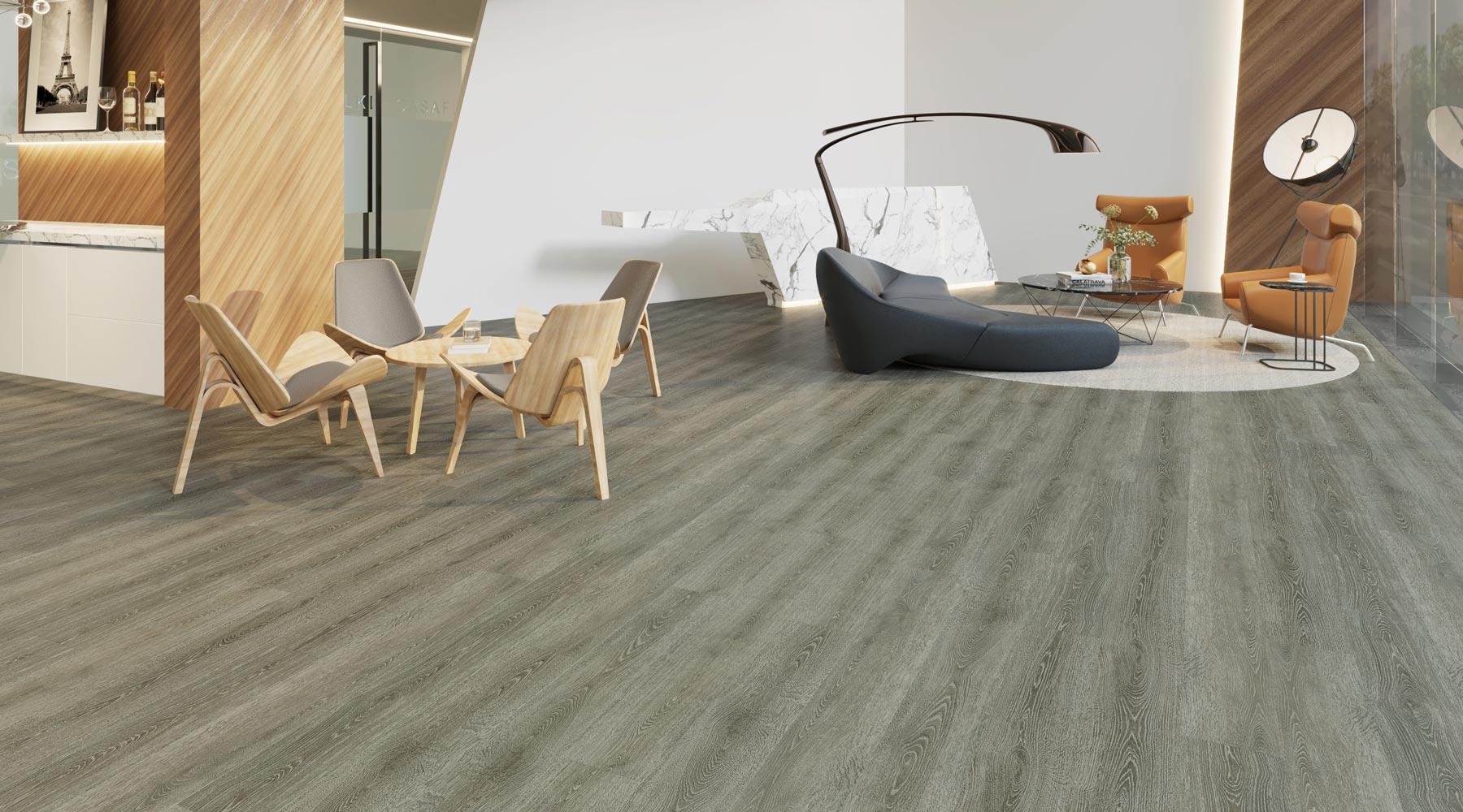 room with vinyl floor